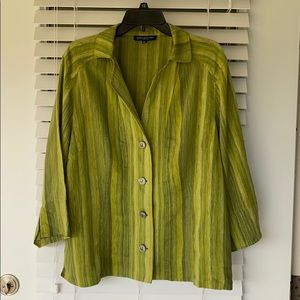 JONES NEW YORK Linen Blend Shirt